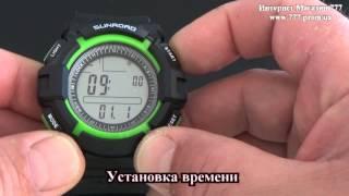 Часы с барометром  Sunroad  FR711-712-716 для рыбаков - Калибровка