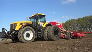 jcb fastrac 8250 duals with 8m mounted drill