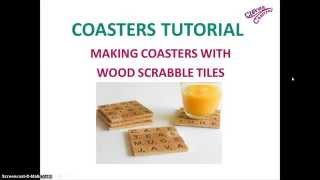 How To Diy Personalized Coasters - Wood Scrabble Letters Coaster Tutorial