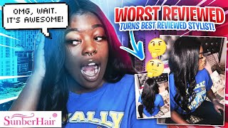 I WENT TO THE WORST REVIEWED HAIR STYLIST IN MY CITY (SHE WAS RUDE AF BUT...) ft. SUNBER HAIR