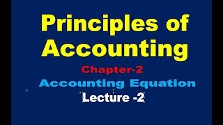Accounting Equation//Summary of Transaction (Lecture-2)// Double entry bookkeeping