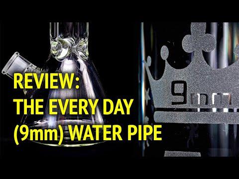 "[4K] Bong Review - AMG 18"" 9mm Beaker Bottom Scientific Glass Pipe (American Made Glass) 2019"