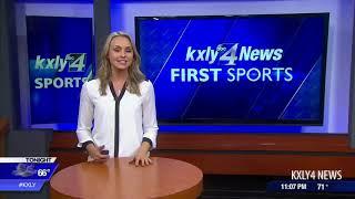 Alyssa Charlston Spokane Indians first pitch