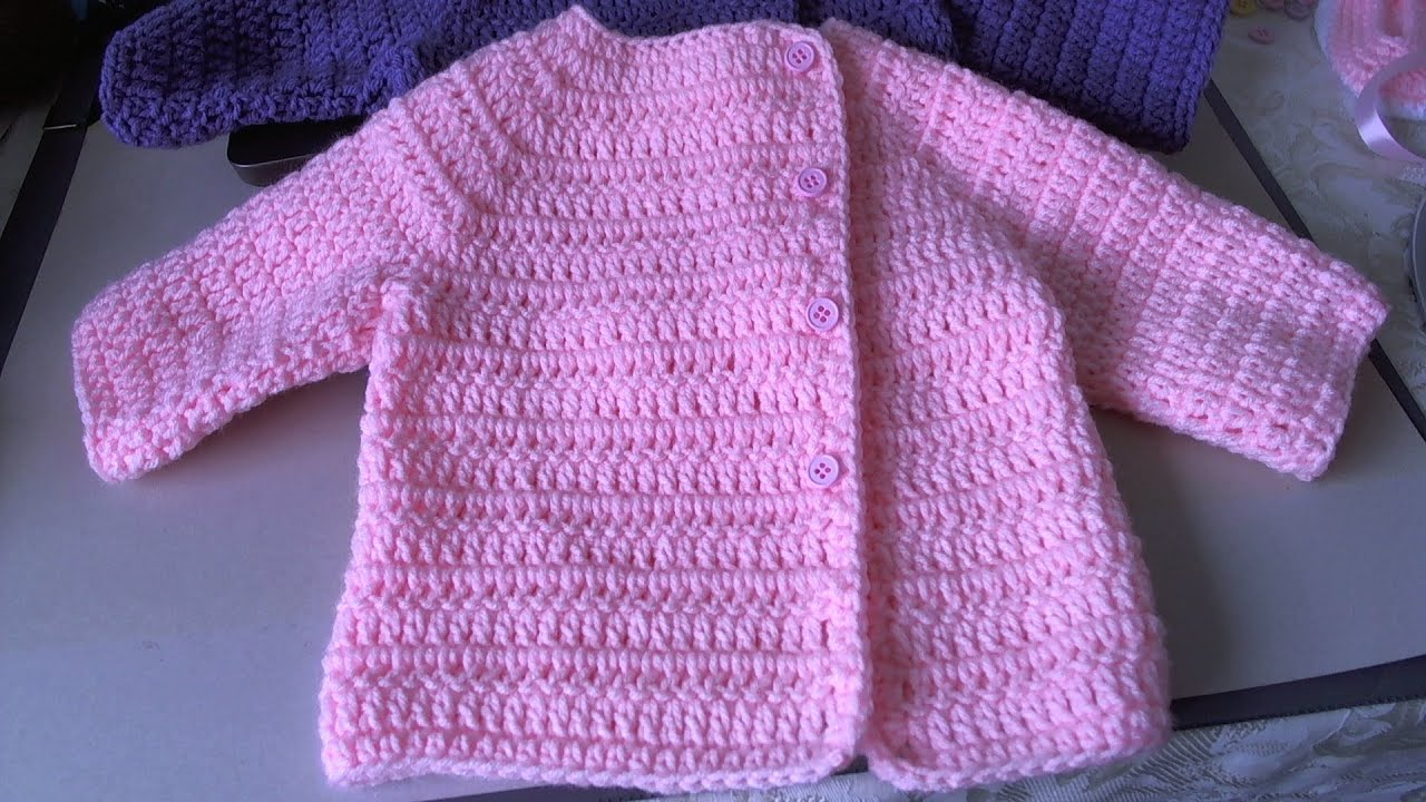 Easy Crochet Baby Sweater - Asian inspired sweater / tambien en ...