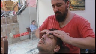 ASMR Turkish Barber Face,Head and Body Massage with Steam 104 (19 Mins)