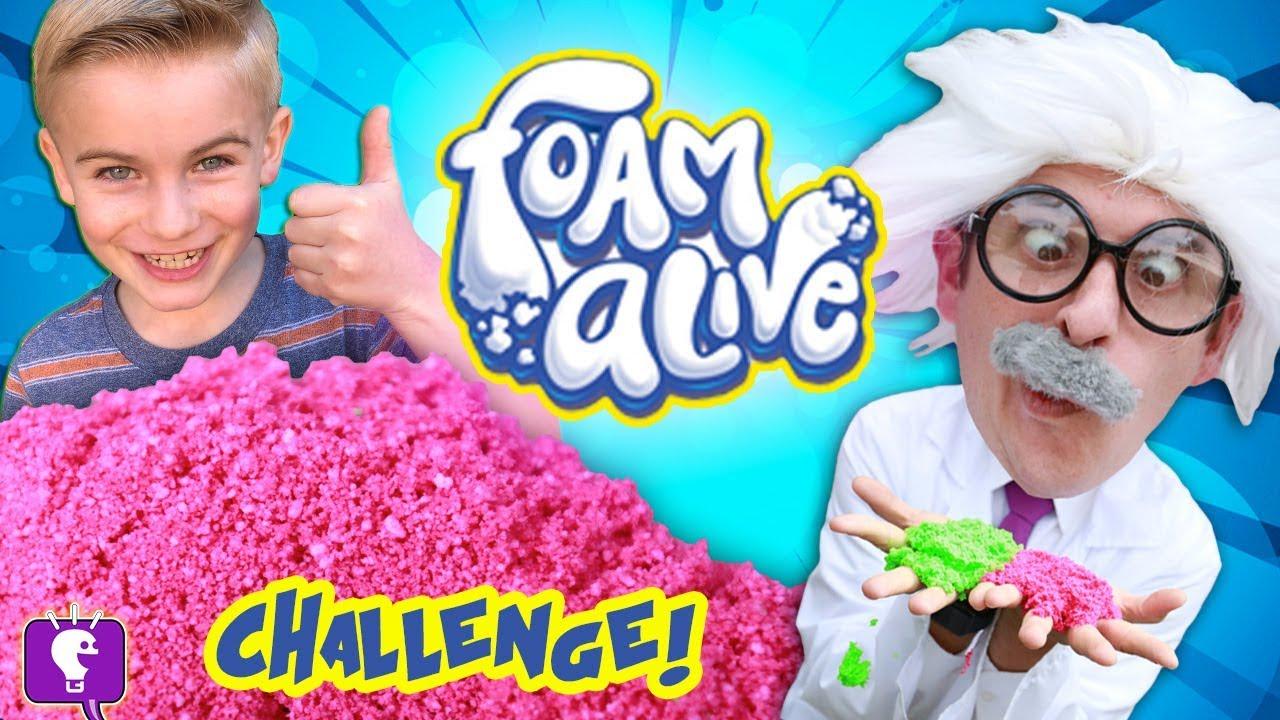 FOAM ALIVE Adventure! HobbyHarry Challenges HobbyKids to Obstacle Course on HobbyKidsTV
