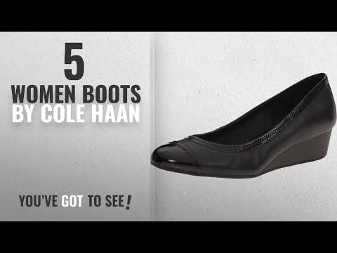 Top 10 Cole Haan Women Boots [2018]: Cole Haan Women's Elsie II Wedge Pump,Black Leather,US 7 B