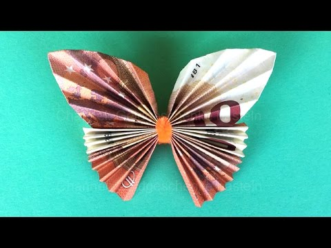 Money Folding Butterfly How To Make A Butterfly With Money Origami Butterfly