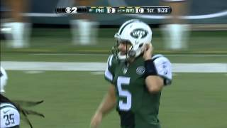 Jets QB Matt Flynn tosses a touchdown to WR Chris Owusu - 2015 NFL Preseason Week 4