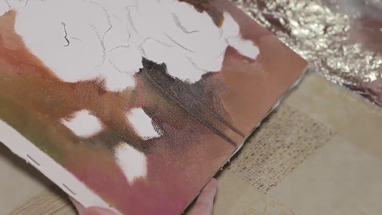 Como pintar rosas em leo sobre tela t cnicas com ediana - Como pintar sobre tela ...