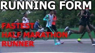 Running Form: FASTEST Half Marathon Runner in the World (Zersenay Tadese)