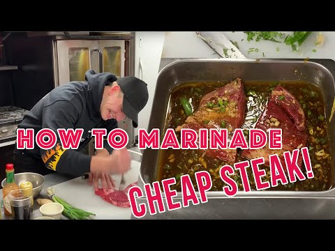 How To Marinade Cheap Steak | The College Cooking Show