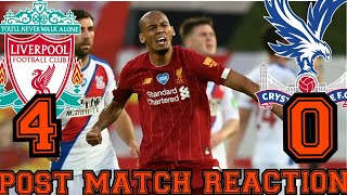 Liverpool Crush Palace 4-0 To Move Step Closer Towards Premier League Glory/match Reaction