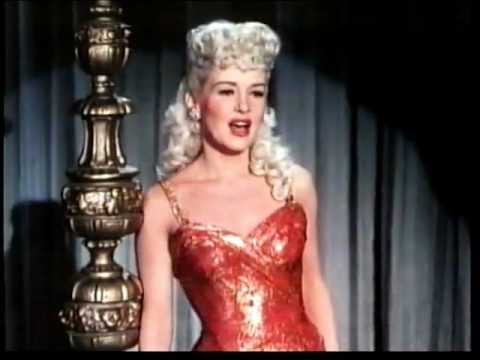 BETTY GRABLE sings 'Baby won't you say you love me'  1950