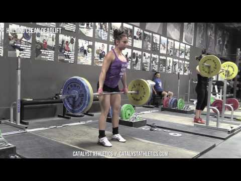 Halting Clean Deadlift - Olympic Weightlifting Exercise Library - Catalyst Athletics