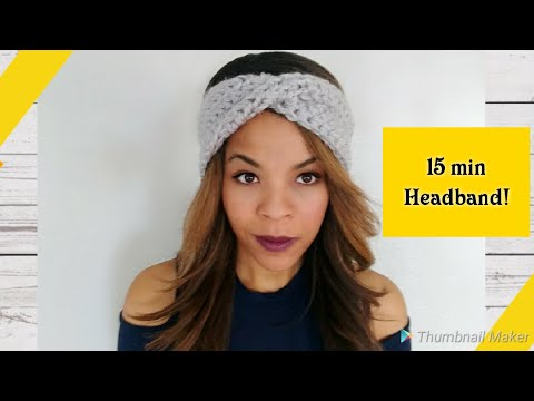 Crochet Twist Turban Headband