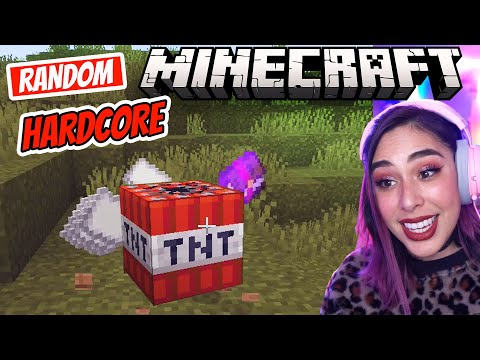 I'M SCARED in Minecraft but every drop is RANDOM Hardcore