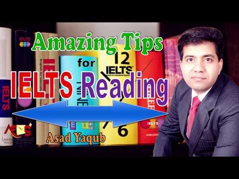 Amazing Tips for IELTS Reading Module | Asad Yaqub |