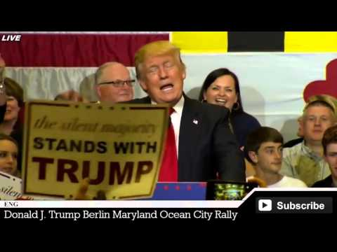 LIVE of Donald Trump Berlin Maryland Rally Stephen Decatur Ocean City FULL SPEECH HD STREAM
