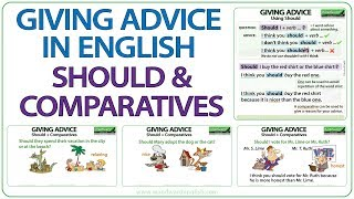 Giving Advice in English using Should and Comparatives
