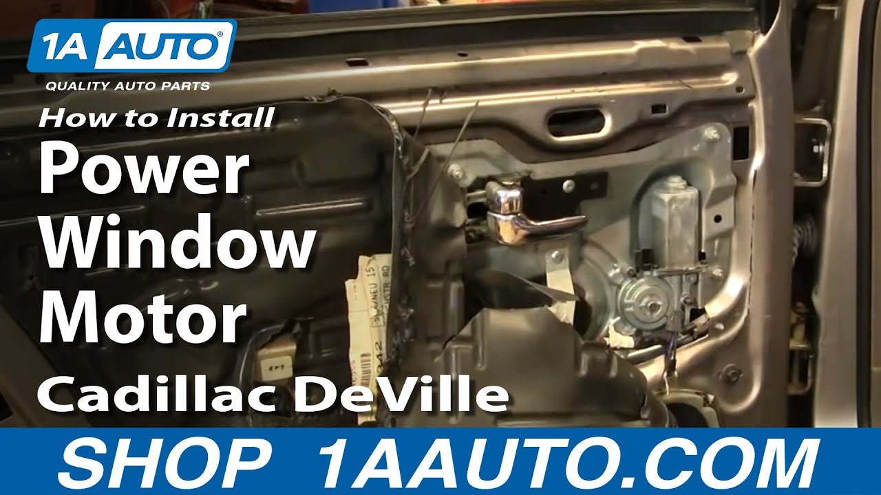 How To Install Replace Power Window Motor Rear Cadillac