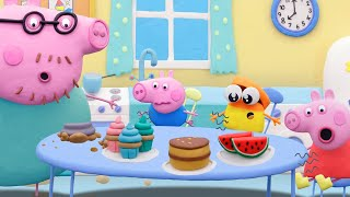 Peppa Pig Official Channel | Muddy Puddle Jump with Peppa | Play-Doh Show Stop Motion