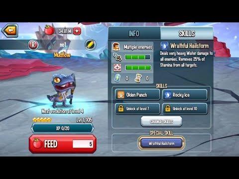 Monster Legends - Mudflow level 1-105 combat PVP review - Best Rare monster