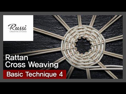 라탄 기초 심어짜기(라탄조명) [라탄공예] 취미 수업 온라인클래스 4. :Rattan Craft : cross weaving basic technique,3D ,라탄재료,가스워머