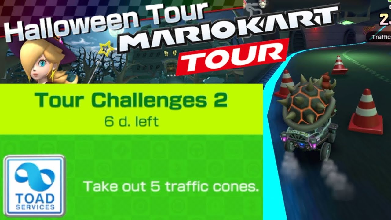 Take Out 5 Traffic Cones Challenge Guide Mario Kart Tour