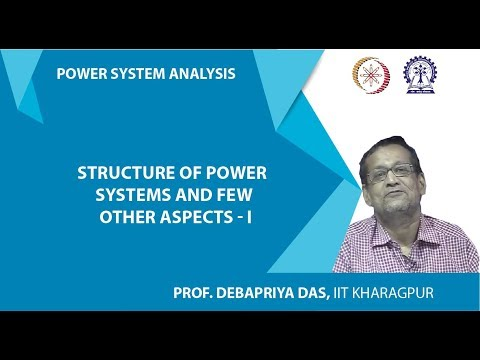 Lecture 1 : Structure of Power Systems and Few other Aspects - I