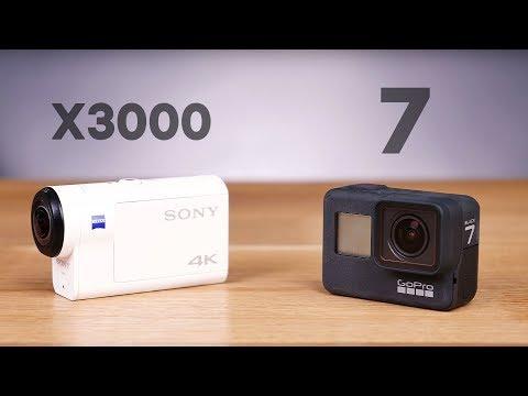 GoPro Hero7 Black vs Sony X3000! Первое сравнение