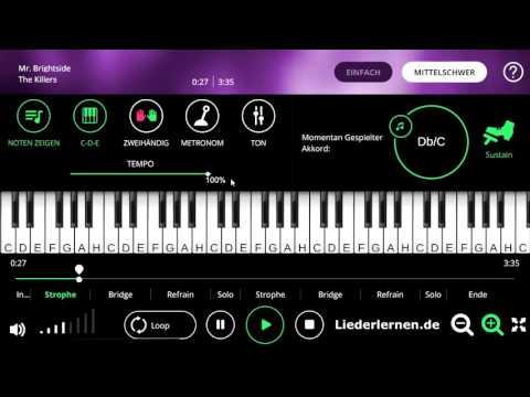 The Killers - Mr. Brightside - Klavier lernen - Musiknoten - Akkorde