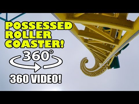 Possessed Roller Coaster VR 360 Degree View! Dorney Amusement Park, PA