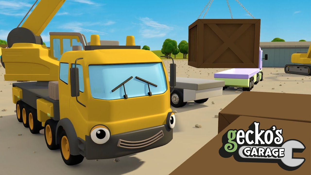 Truck Teamwork at the Construction Site | Gecko's Garage | Vehicles and Trucks For Children