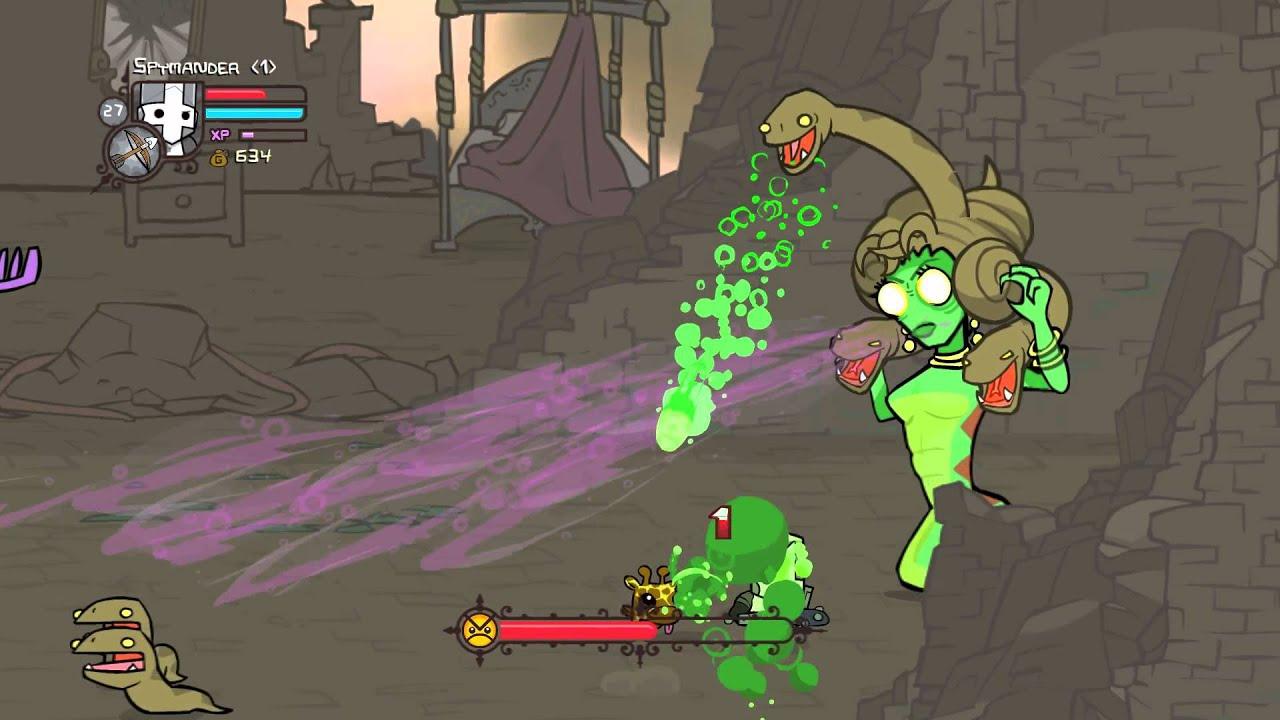 Castle Crashers: Medusa boss fight - YouTube