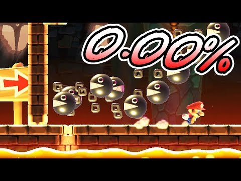 0.00% COMPLETION RATE WHY?! / Super Mario Maker SUPER EXPERT 100 Mario Challenge