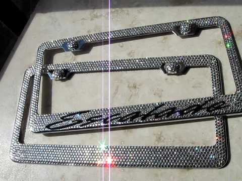 swarovski crystal license plate frames
