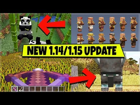 Minecraft 1 14 1 15 Village Pillage Update All Features