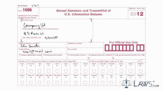 Learn How To Fill The Form 1096 Annual Summary And Transmittal Of U.s. Information Return