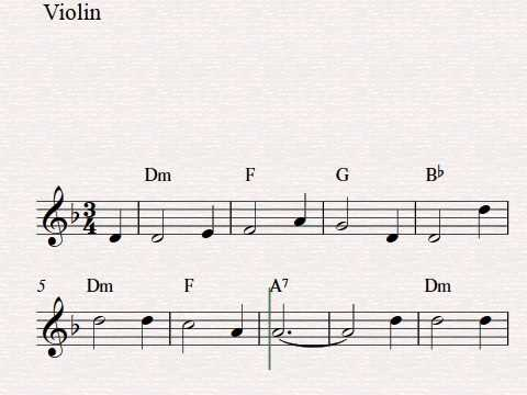 Free easy violin sheet music, House Of The Rising Sun