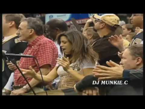 New Orleans Saints fans stand up and get crunk! DJ Munkie C