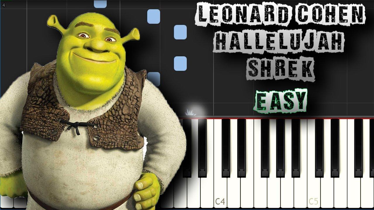 Hallelujah piano sheet music leonard cohen youtube.