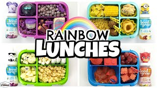 🌈COLORFUL Lunches Are BACK AGAIN!🌈 Colorful Lunch Ideas
