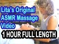 Lita's ORIGINAL Massage ASMR Video - FULL LENGTH - 1 HOUR! FREE!