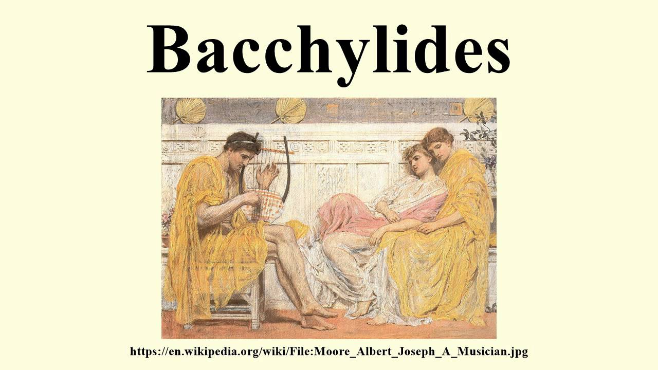 Bacchylides bacchylides dithyrambs