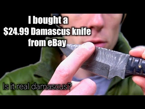 I Bought A $24.99 Damascus Knife From Ebay. I Couldn't Believe What I Received!