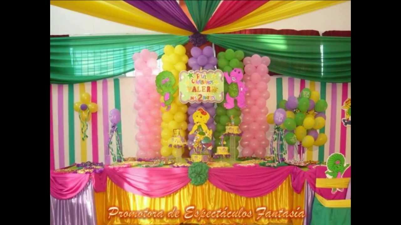 Decoraciones para fiestas infantiles con promotora de for Decoraciones para fiestas