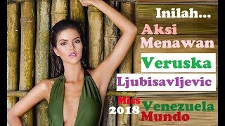 Aksi menawan Veruska Ljubisavljevic: Miss World Venezuela 2018 [Beauty Pageant]