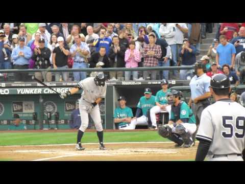 Ichiro's First At Bat as a Yankee 7/23/12