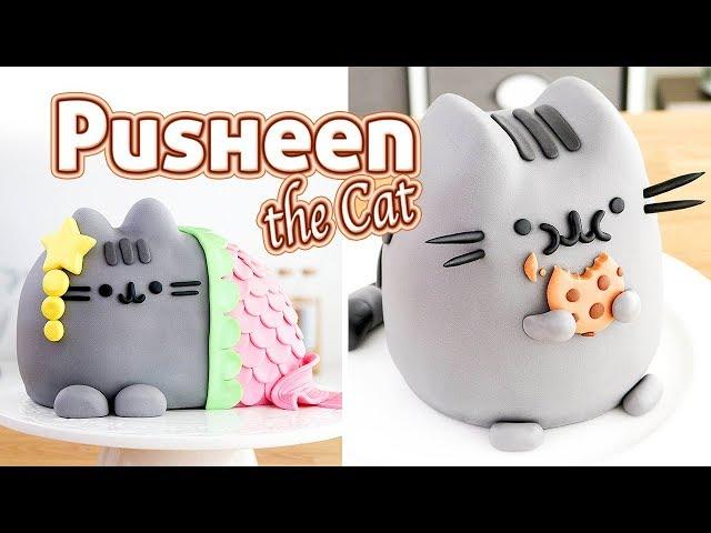 PUSHEEN THE CAT - 2 AMAZING CAKES Tan Dulce